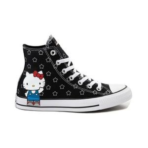 Size 9 Converse x Hello Kitty Black Hi Top Shoes